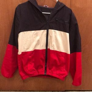 Red/White/Navy Pacsun zip up jacket